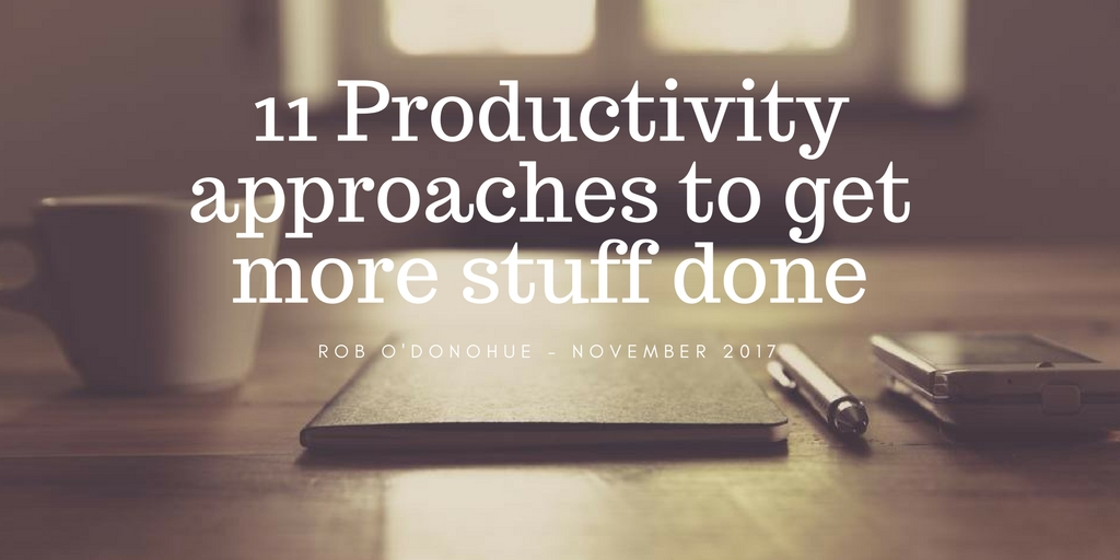 Productivity Boosters: 11 of the things that help me get more done!