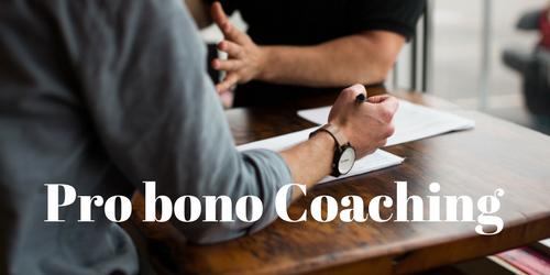 Pro-bono Coaching
