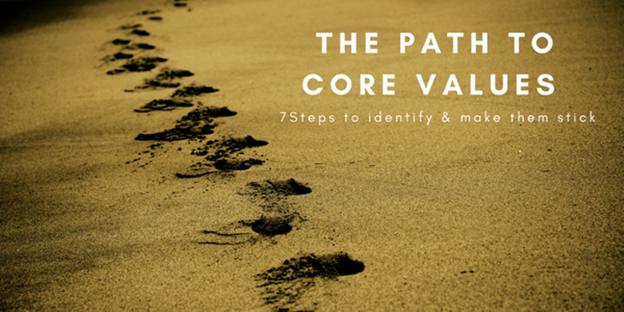 7 steps to define & make your Core Values stick!