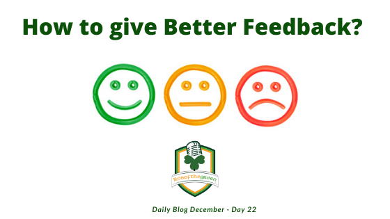 How to give Better Feedback!